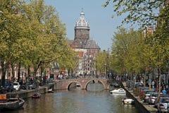 Kanalen van Amsterdam, Nederland Royalty-vrije Stock Afbeeldingen