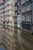Kanalen van Amsterdam, Nederland Stock Foto
