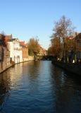 Kanalen van Brugge Stock Foto