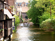 Kanalen van Brugge. Stock Fotografie