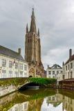 Kanalen van Brugge, België stock fotografie