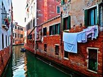 Kanalen van Venetië Stock Foto's