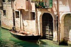 Kanalen van Venetië. Italië Stock Fotografie