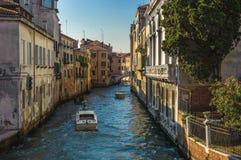 Kanalen van Venetië, Italië Stock Foto