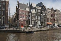 Kanaler Amsterdam Arkivbilder