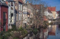 Kanaler av Bruges Arkivbild