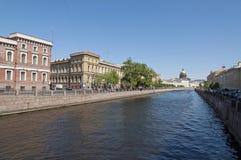 Kanaler av St Petersburg Royaltyfri Bild