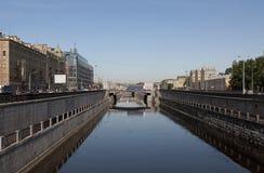 Kanaler av St Petersburg Royaltyfria Bilder
