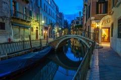 Kanaler av Venedig, Italien Royaltyfri Fotografi