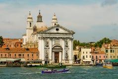 Kanaler av Venedig Italien Arkivbild