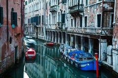 Kanaler av Venedig Italien Fotografering för Bildbyråer