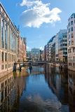 kanaler hamburg Arkivfoto