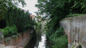 Kanaler i Brugge Royaltyfri Foto