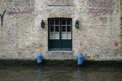 Kanaler i Brugge Arkivfoton
