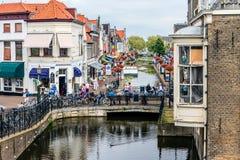 Kanaler i Nederländerna fotografering för bildbyråer