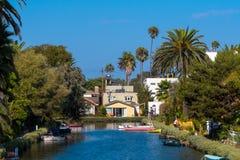 Kanaler på Venice Beach royaltyfria foton