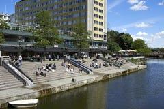 Kanalerna i Malmö Fotografering för Bildbyråer
