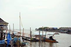 Kanalfluß Knall Khun Thian zum Meer in Bangkok Thailand Lizenzfreies Stockbild