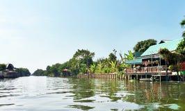 Kanalhus i Bangkok Royaltyfri Foto