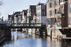 Kanalhus i Gorinchem Royaltyfri Foto