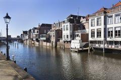 Kanalhus i Gorinchem Royaltyfri Fotografi