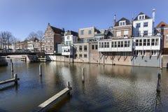 Kanalhus i Gorinchem Royaltyfria Bilder