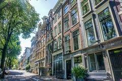 Kanalhus, Reguliersgracht, Amsterdam, Holland Royaltyfria Bilder