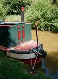 Kanalhusbåt Arkivbild