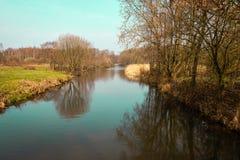 Kanaliseer Zandwetering nabijgelegen Hengforden stock fotografie