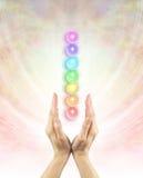 Kanalisera Chakra som läker energi Arkivfoto
