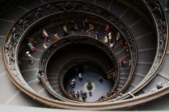 Kanalisera trappa i Vatican Royaltyfria Bilder