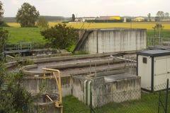 kanalizacyjnej wody stacja Fotografia Royalty Free