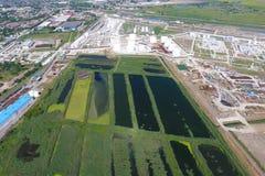 Kanalizacyjny zakład przeróbki wewnątrz Na Kuban Woda dla sewa obraz royalty free