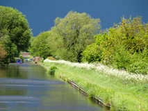Kanallandskap Arkivfoto