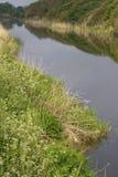 kanalmorgon arkivbild