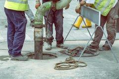 Kanalrohrsysteme, die Service 2 säubern Lizenzfreies Stockfoto