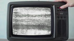 Kanalväxling på tappningTV:N, slut upp stock video