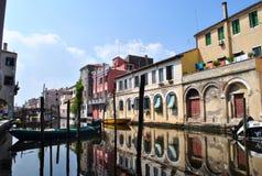 KanalVena i Chioggia Arkivbild