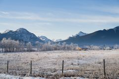 Kananaskis countryside landscape stock photos