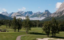 Kananaskis Golf Course prior to the flood, Kananaskis, Alberta, Canada - August 12th, 2011 royalty free stock photography