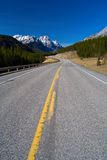 Kananaskis Highway. The Kananaskis highway stretches into the mountains royalty free stock photos