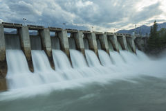 Kananaskis Hydro Electric Dam w7 royalty free stock photography