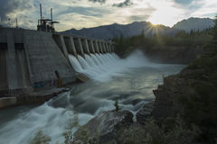 Kananaskis Hydro Power Dam w Royalty Free Stock Photos