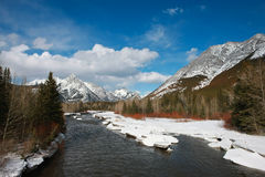 Kananaskis River Royalty Free Stock Photo