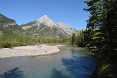 Kananaskis River. In the Canadian Rocky Mountains. Kananaskis country, Alberta, Canada Royalty Free Stock Photography