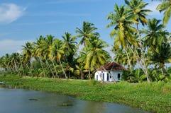 kanałowy Kerala Fotografia Royalty Free