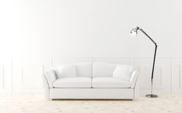 kanapa świecący izbowy biel Obrazy Royalty Free