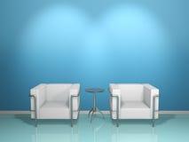 kanapa błękitny stół Zdjęcie Royalty Free