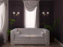 kanapa biel Zdjęcie Royalty Free