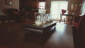 kanapa graniasty obiadowy wewnętrzny żywy izbowy furgon obraz stock